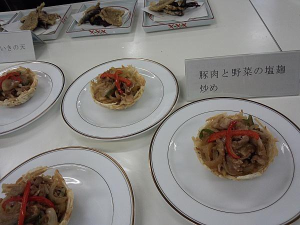 豚肉と野菜の梅みそ塩麹炒め(久居農林マッチング交流会)